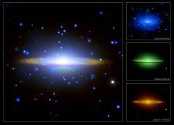 Sombrero Galaxy. Image credti: Hubble/Chandra/Spitzer