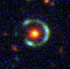 A nearly complete Einstein Ring. Image credit: SDSS