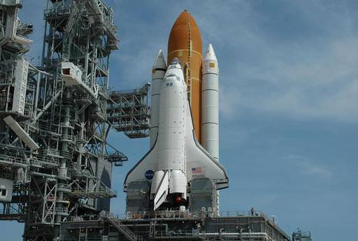 Atlantis on the launchpad.  Image Credit:  NASA