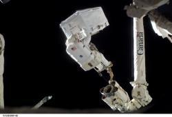 Rex Waldheim EVA.  Image:  NASA