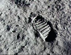 Neil Armstrong's footprint in the lunar regolith (credit: NASA)