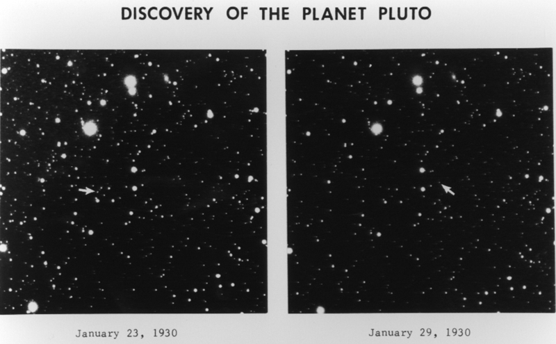 Original images detailing the discovery of Pluto