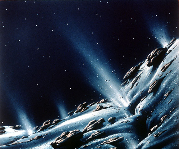 Artist's impression of a comet's surface. Image credit: NASA/JPL