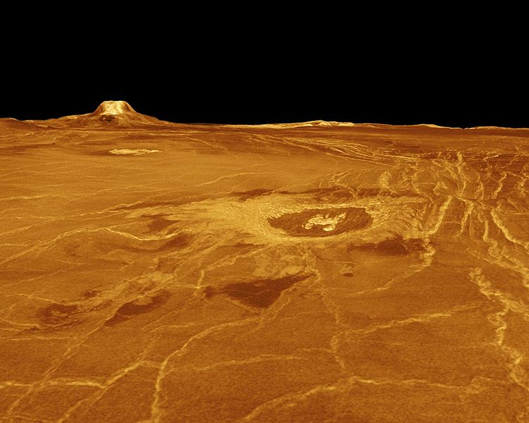 Eistla Regio region of Venus. Image credit: NASA/JPL