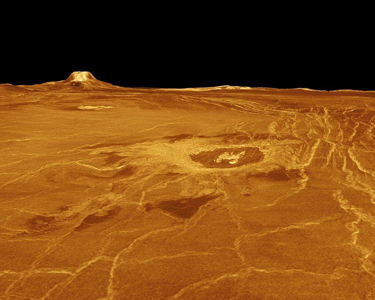 Eistla Regio region of Venus. Image credit: NASA/JPL