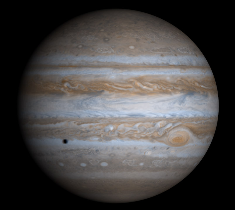 Jupiter imaged by Cassini.