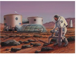 Turning on the Tap - Commissioned artwork - Colonist tapping into a sub-surface aquifer (©Mars Foundation)