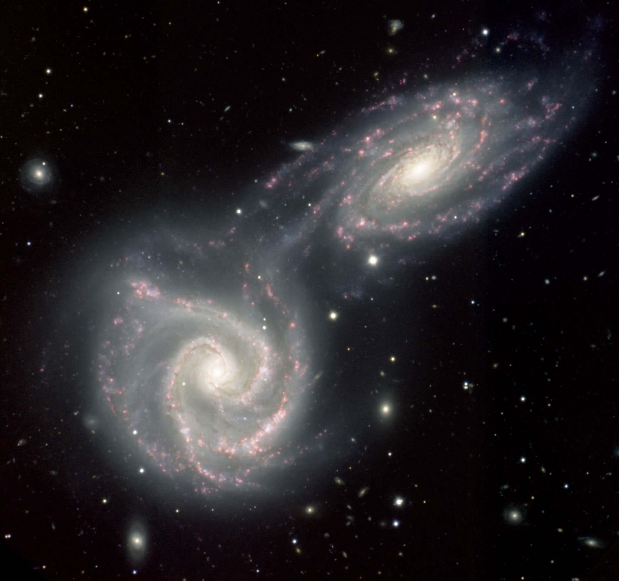twin-galaxies1.  Credit:  Gemini Observatory Multi-Object Spectrograph.
