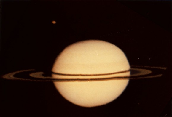 Pioneer's image of Saturn. Image credit: NASA/JPL