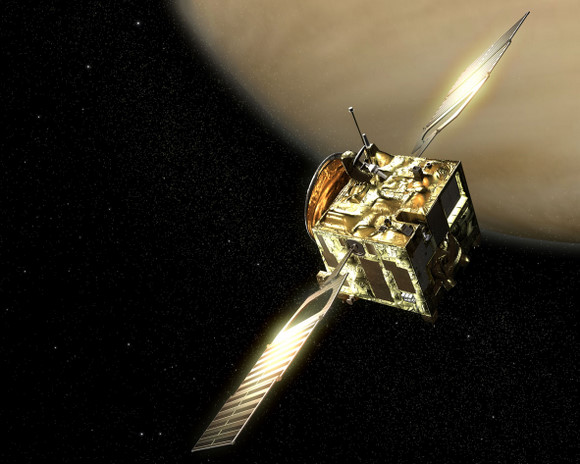 Artist's conception of Venus Express.  Image credit:  ESA