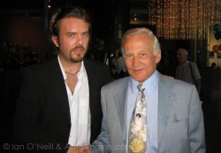 Buzz Aldrin, ex-astronaut, second man on the Moon and all-round nice guy (Ian O'Neill)