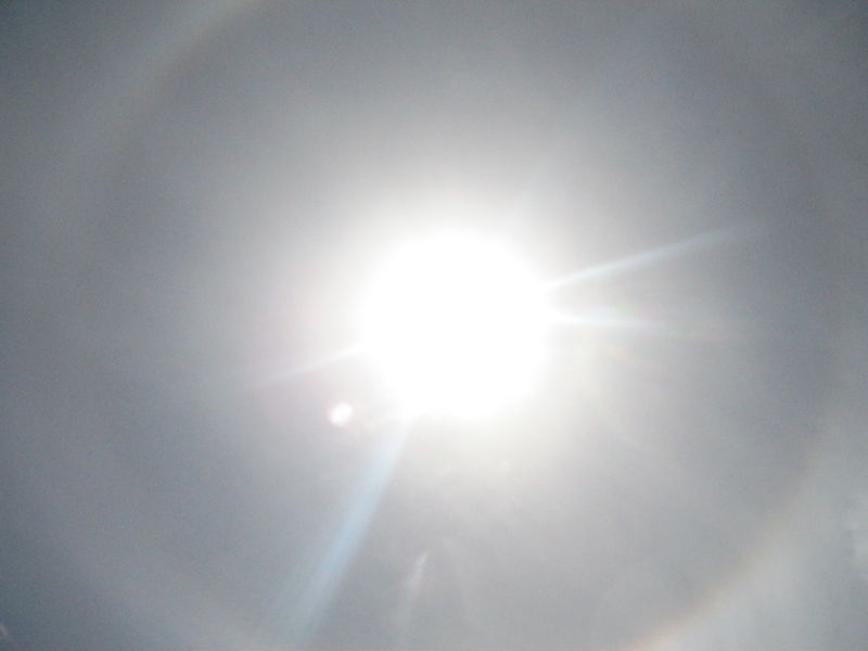 Solar halo - a ring around the Sun. Image credit: Matt Saal