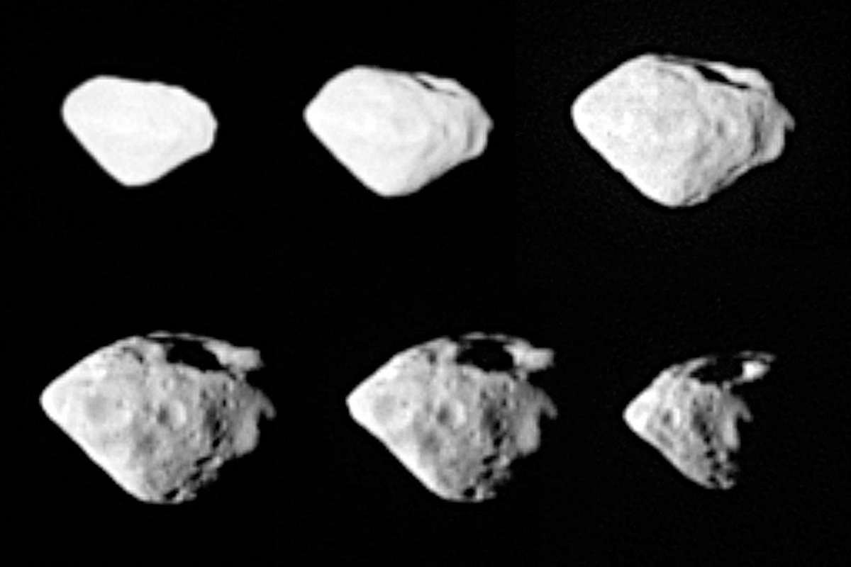 Mosaic of images from Rosetta's fly by.  Credit:  ESA