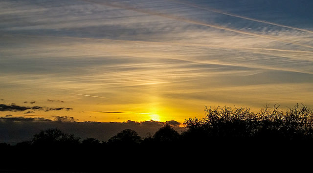 Sun pillar by Mary Spicer