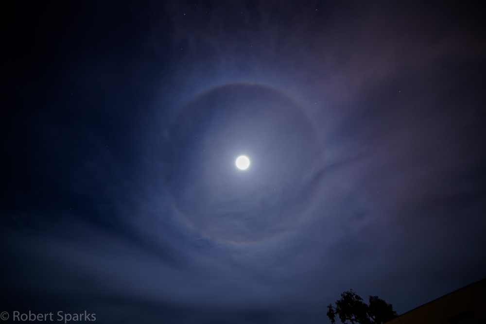 Moon Halo By Rob Sparks