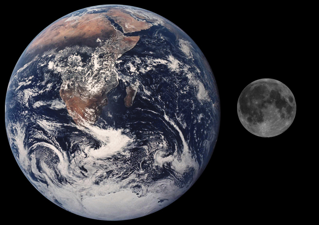 The Moon Compared to Earth - Universe Today
