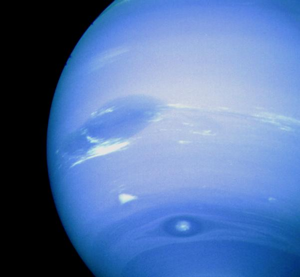 Neptune, captured by Voyager 2. Image credit: NASA
