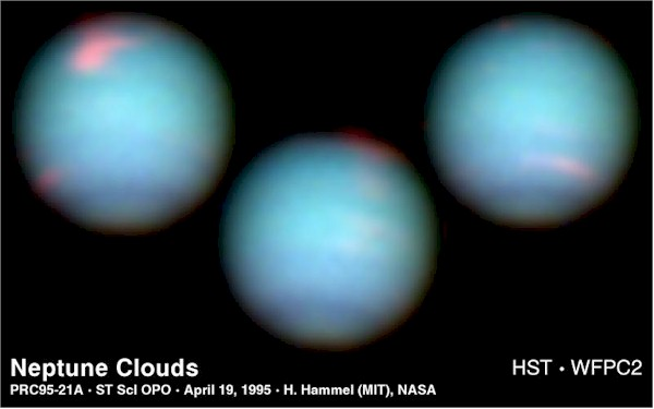 Rotation of Neptune. Image credit: Hubble