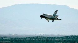 """I just heard some sort of explosion!"" Nope, it was just that pesky space shuttle... (LA Times)"