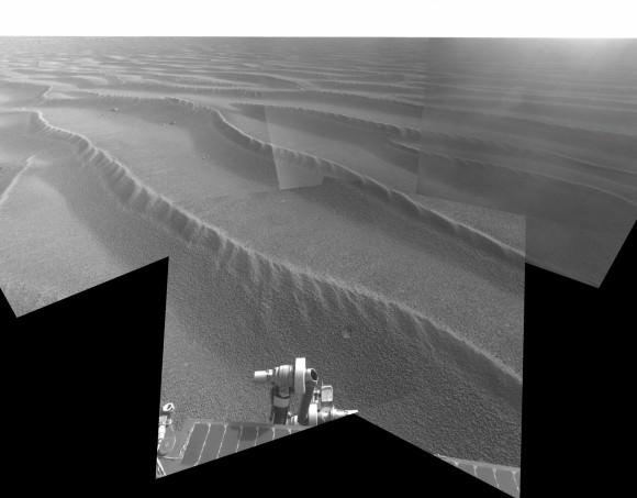 "The ""Purgatory"" dunes around Opportunity.  Credit: NASA/JPL/Cornell"