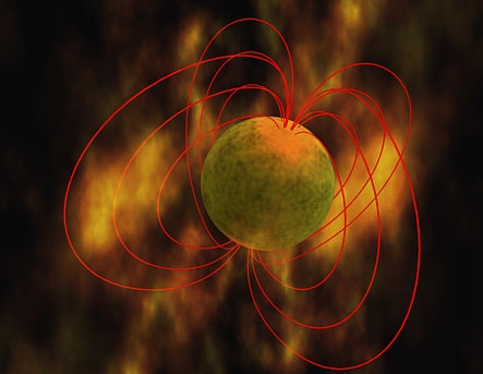 The magnetic field surrounding the mysterious magnetar (NASA)