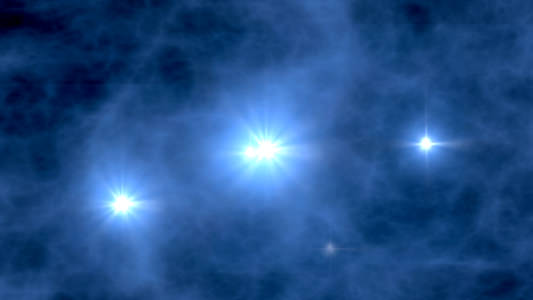 Artist's impression of the first stars. Image credit: NASA/WMAP