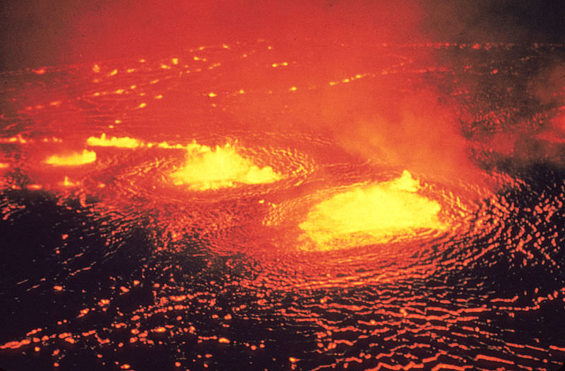 Eruption of Kilauea in 1954.