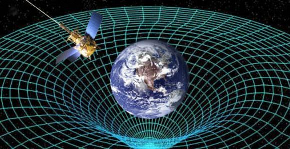 Artist's impression of the effect Earth's gravity has on spacetime. Credit: NASA