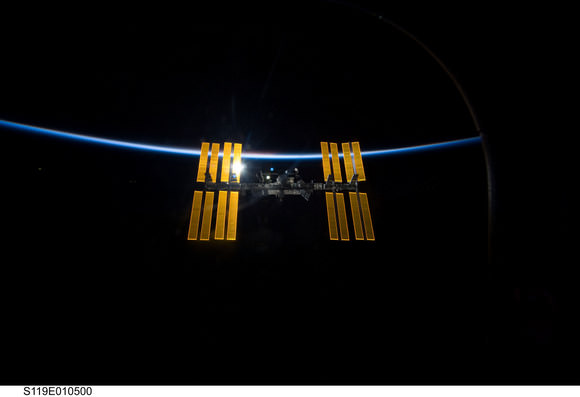 The ISS in all its glory.  Credit: NASA