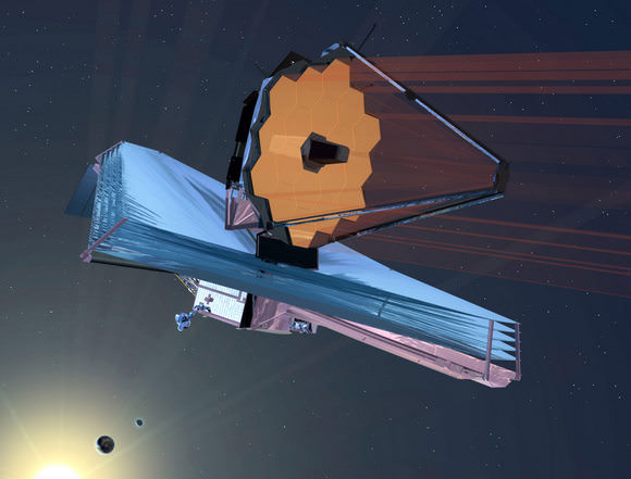Artists concept of the James Webb Space Telescope in space. Credit: NASA