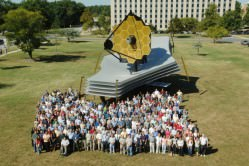 A full-scale model of the JWST.  Credit: NASA