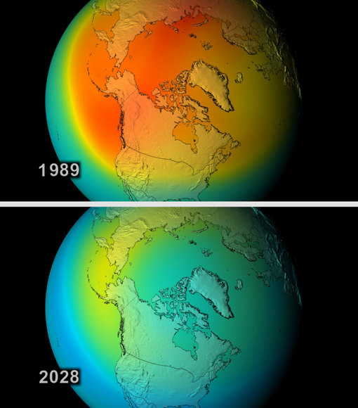 Ozone layer hole. Image credit: NASA