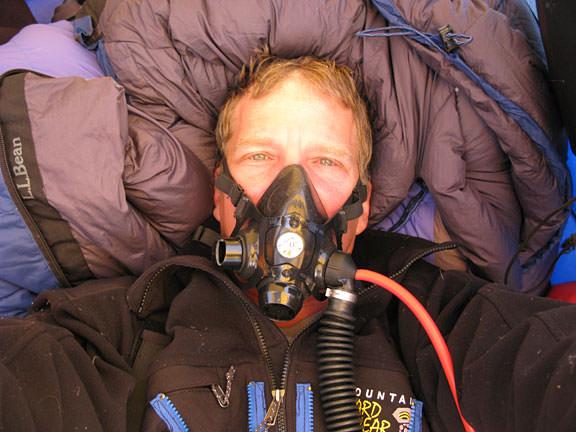 Scott Parazynski during his attempt to climb Mt. Everest. Credit: OnOrbit.com