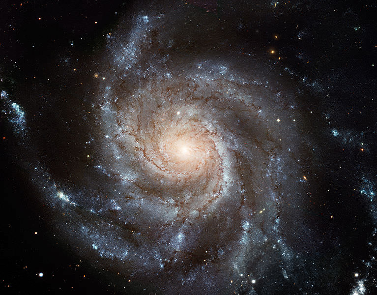 Spiral galaxy M101. Image credit: Hubble