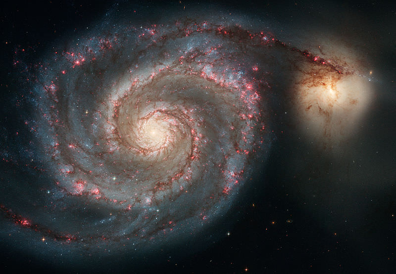 Whirlpool Galaxy. Image credit: Hubble