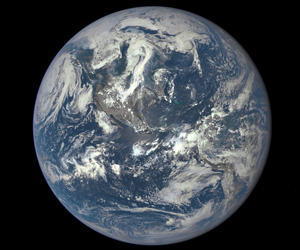 Our beautiful, precious, life-supporting Earth as seen on July 6, 2015 from a distance of one million miles by a NASA scientific camera aboard the Deep Space Climate Observatory spacecraft. Credits: NASA