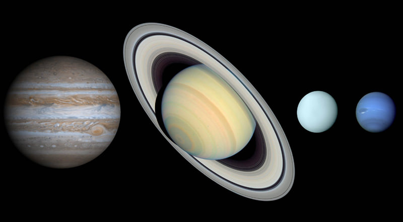 the jovian planets by size - photo #18