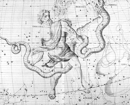 The constellations Ophiuchus. Credit: