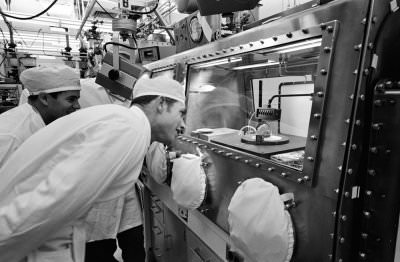 Scientists in the Lunar Receiving Laboratory. Credit: NASA