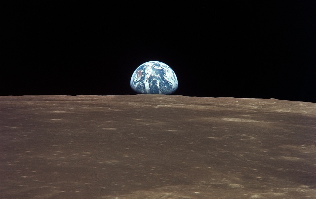Earth viewed from the Moon by the Apollo 11 spacecraft. Credit: NASA