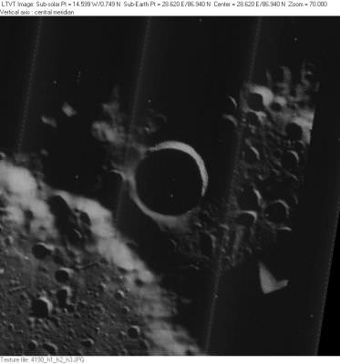 Erlanger Crater from the Lunar Orbiter. Credit: NASA