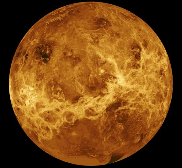 The planet Venus, as imagined by the Magellan 10 mission. Credit: NASA/JPL
