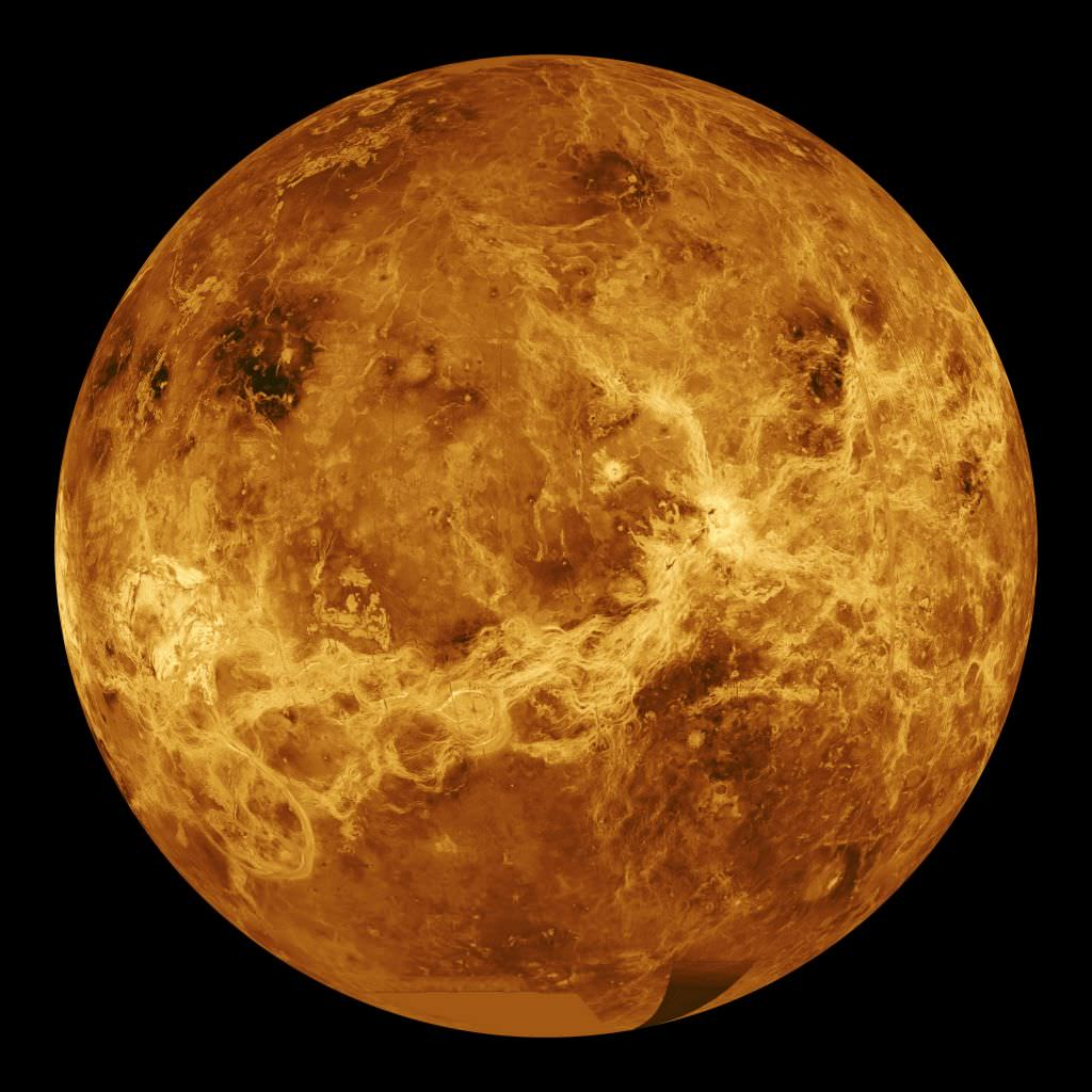 Venus captured by Magellan.
