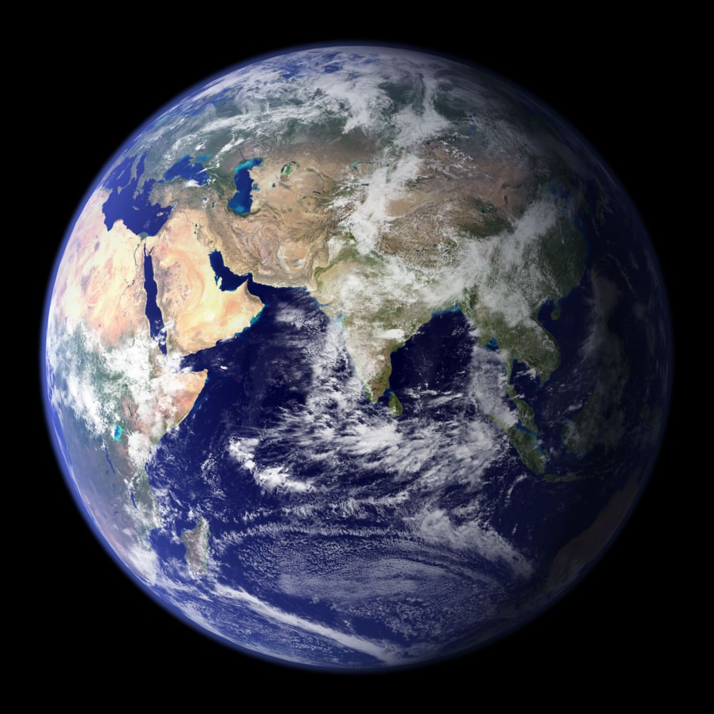 Blue marble Earth. Image credit: NASA