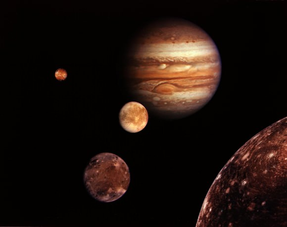 Jupiter and moons. Image credit: NASA/JPL