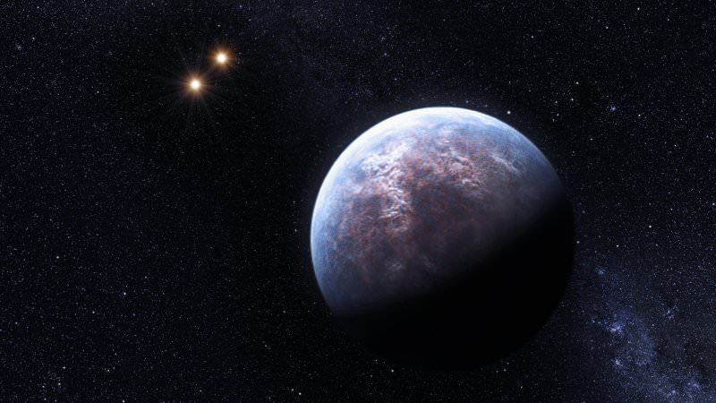 A planet 6 times the mass of Earth orbits around the star Gliese 667 C, which belongs to a triple system. Credit: ESO