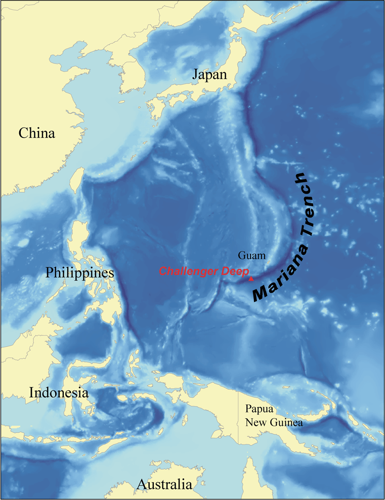 Mariana Trench Credit: Kmusser
