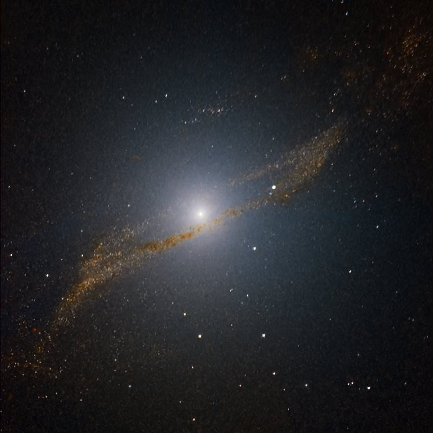 Using adaptive optics in the near-infrared, a team of astronomers was able to uncover a ring of stars in Centaurus A. Image Credit:ESO