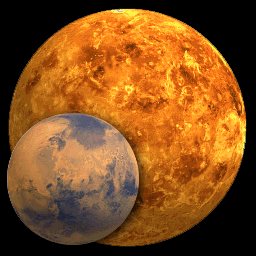 Venus and Earth are attracted to each other due to gravity. Image courtesy of universe today.