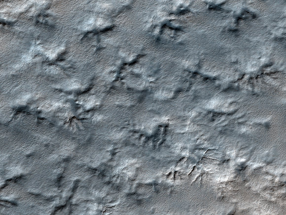 Could the Mars Polar Lander's remains be hidden somewhere in this HiRISE image?